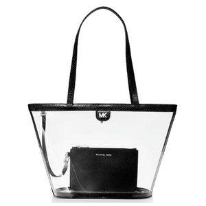 Michael Kors Rita Medium Clear Bucket Tote Bag